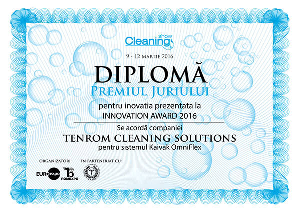diploma premiul 1 tenrom cleaning show 2016